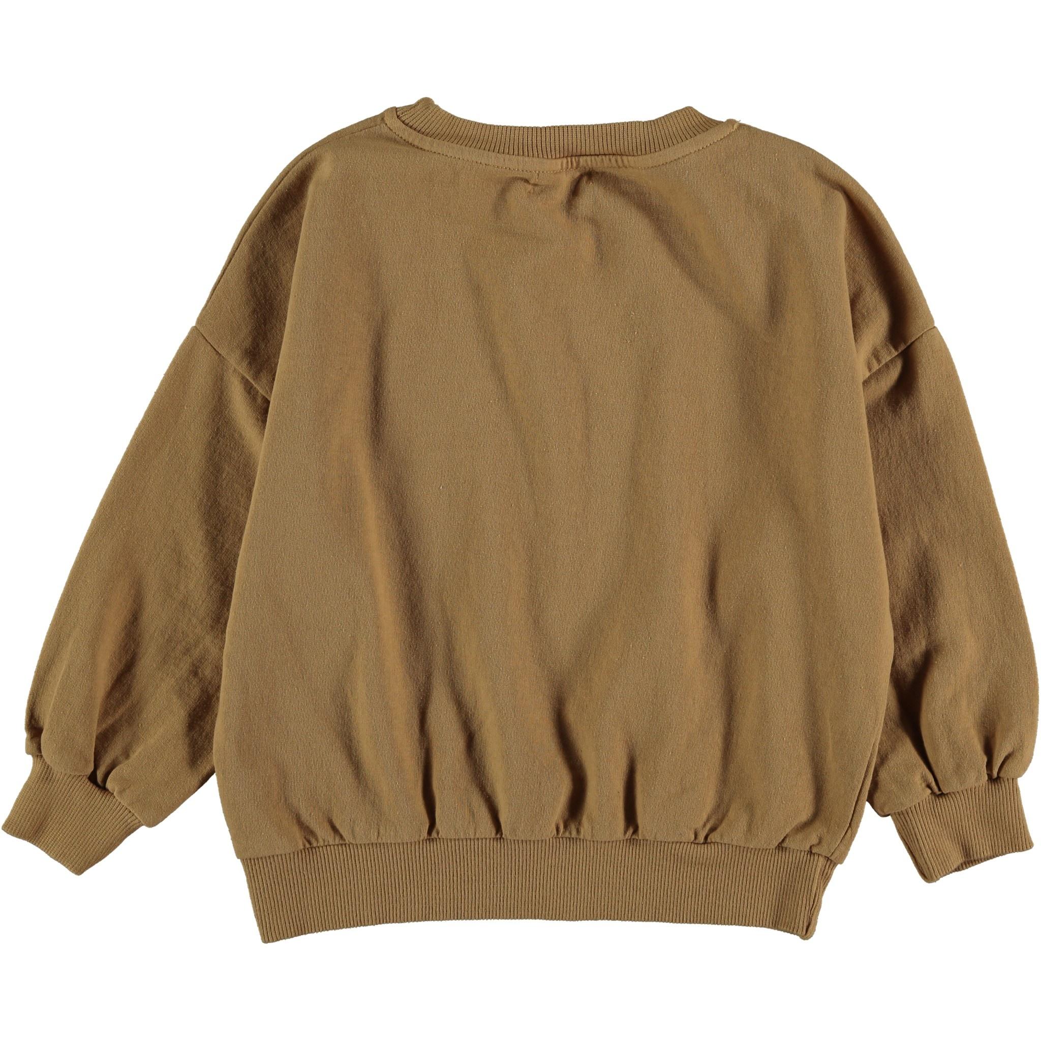 My Little Cozmo Organic & recycled fleece sweatshirt | Peanut