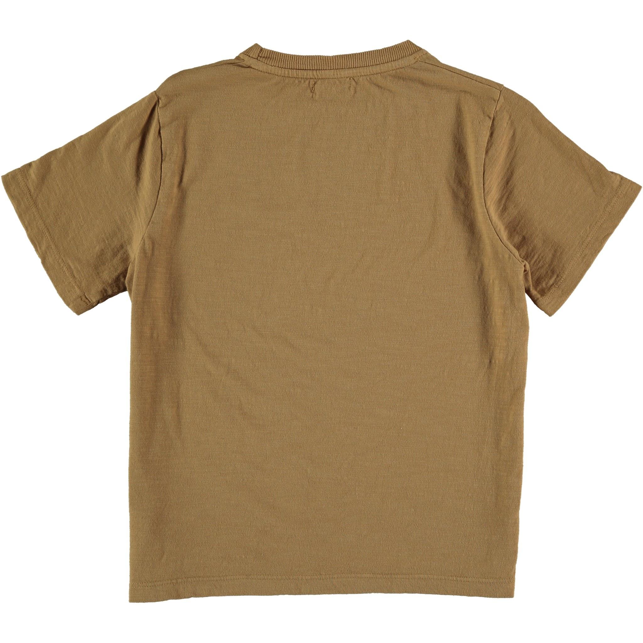 My Little Cozmo Organic cotton flame t-shirt | peanut