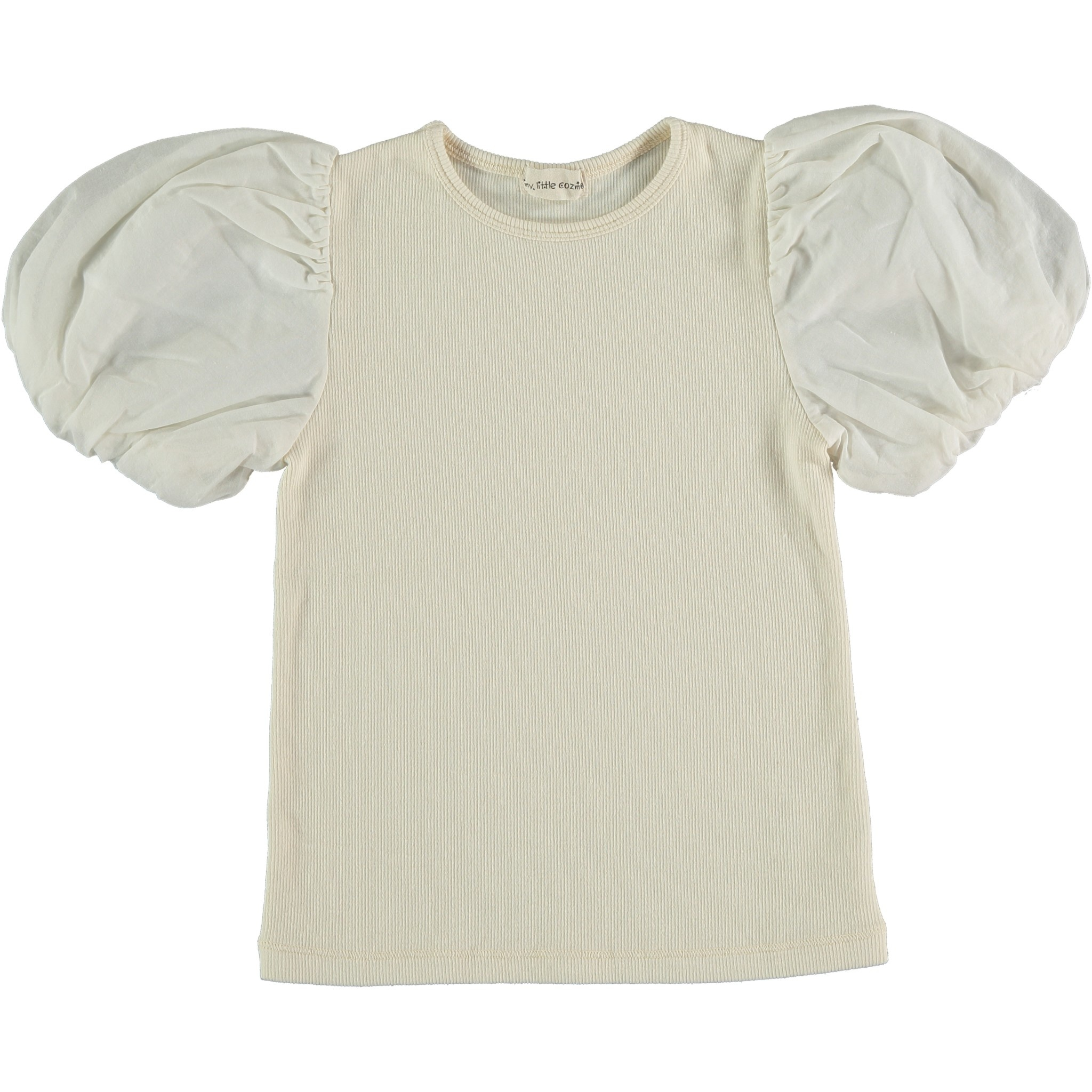 My Little Cozmo Organic cotton ribbed t-shirt  | Ivory