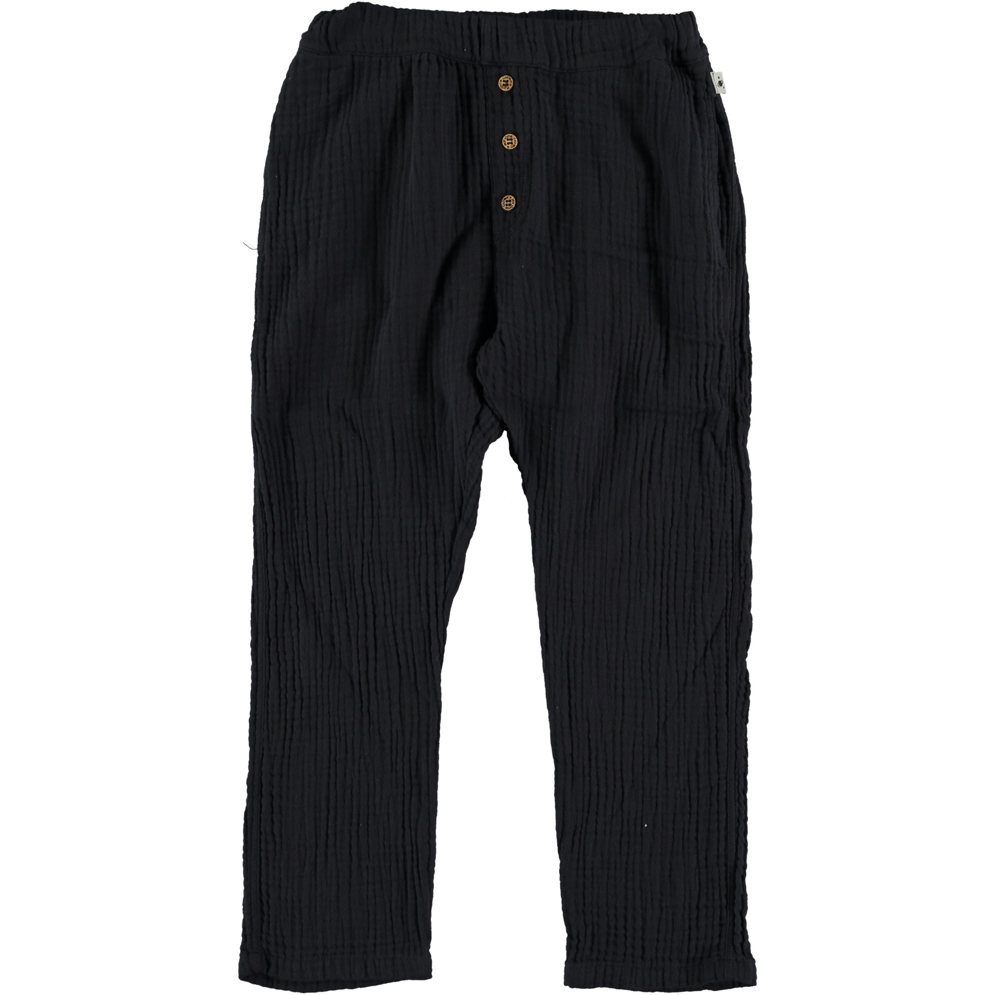 My Little Cozmo Organic cotton gauze pants | Dark blue