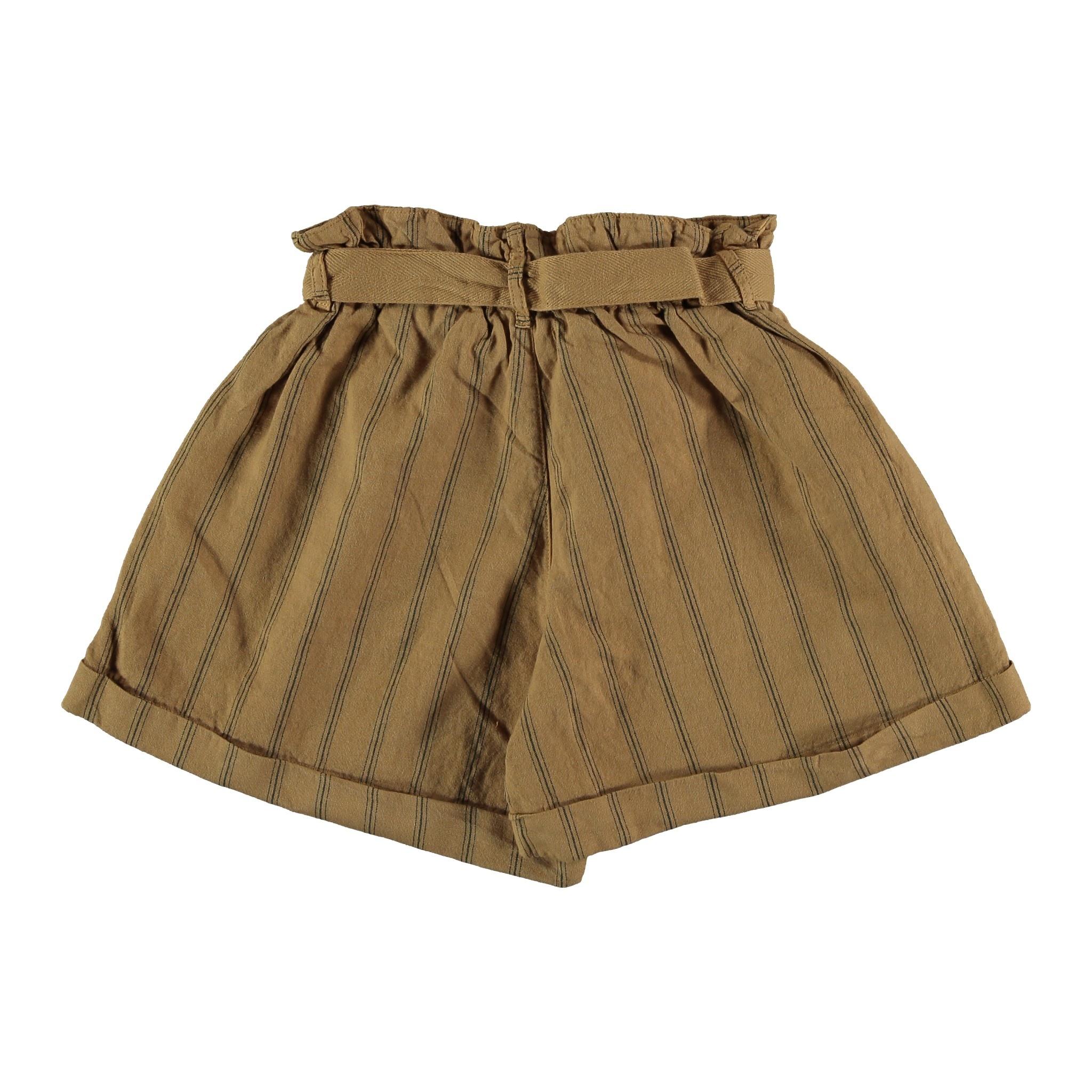 My Little Cozmo Linen & cotton shorts | Peanut