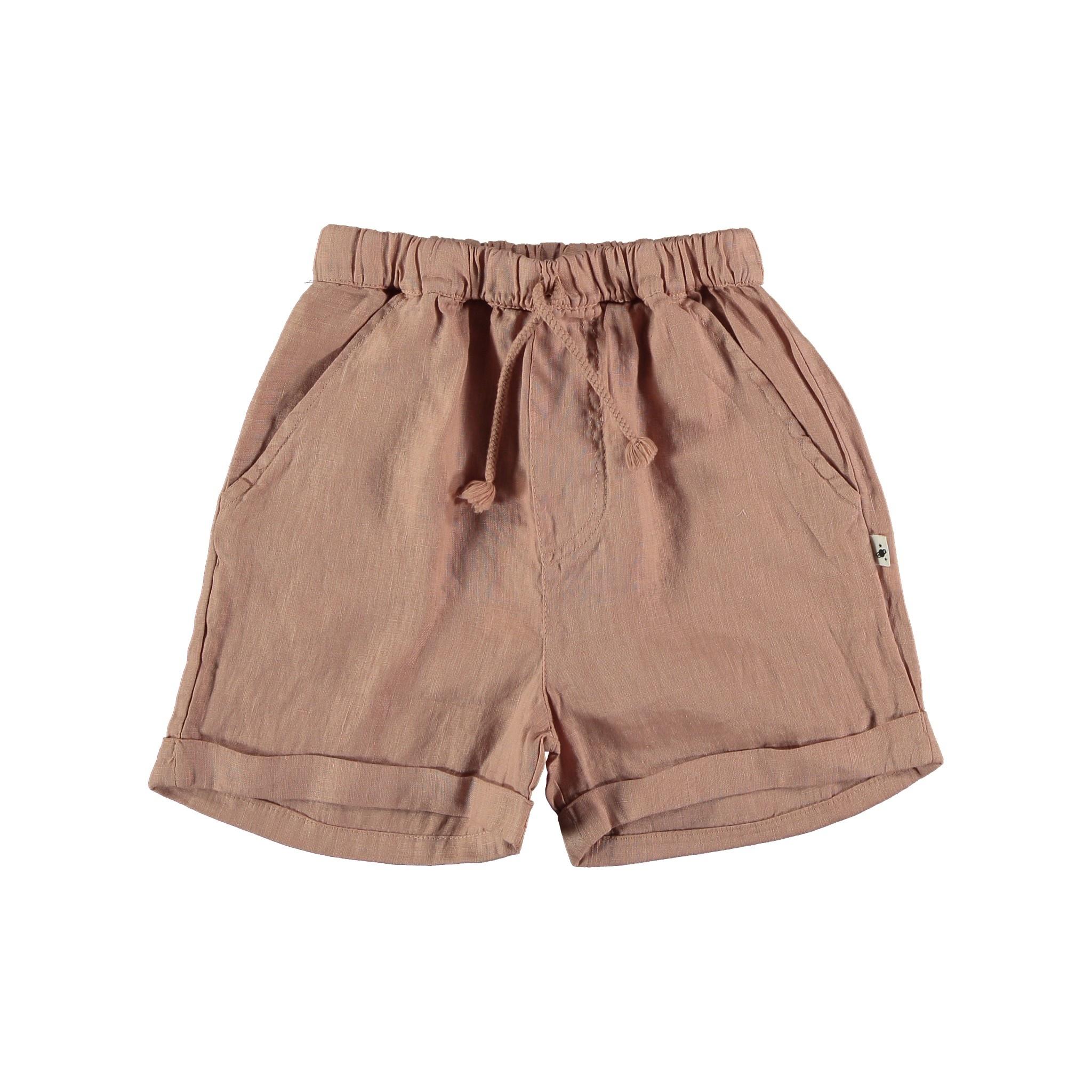 My Little Cozmo Linen & cotton bermuda shorts | Terra cotton