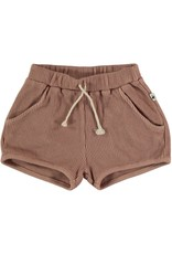 My Little Cozmo Organic cotton waffles shorts | Terra cotta