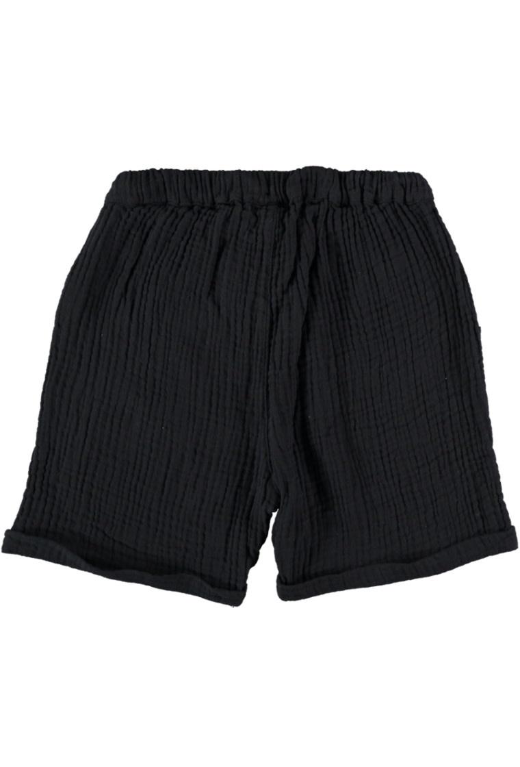 My Little Cozmo Organic gauze bermuda shorts | Dark blue