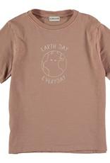 My Little Cozmo Organic cotton flame t-shirt | Terra cotta