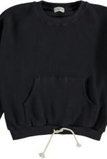 My Little Cozmo Organic cotton waffled sweatshirt | Dark blue