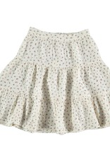 My Little Cozmo Organic liberty tiered skirt   Ivory