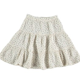 My Little Cozmo Organic liberty tiered skirt | Ivory