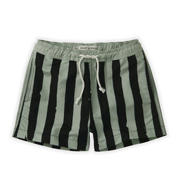 Sproet & Sprout Swimshort Painted stripe | Eucalyptus