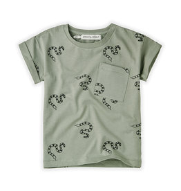 Sproet & Sprout T-shirt print Snake | Eucalyptus