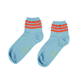piupiuchick socks | blue w/ garnet stripes