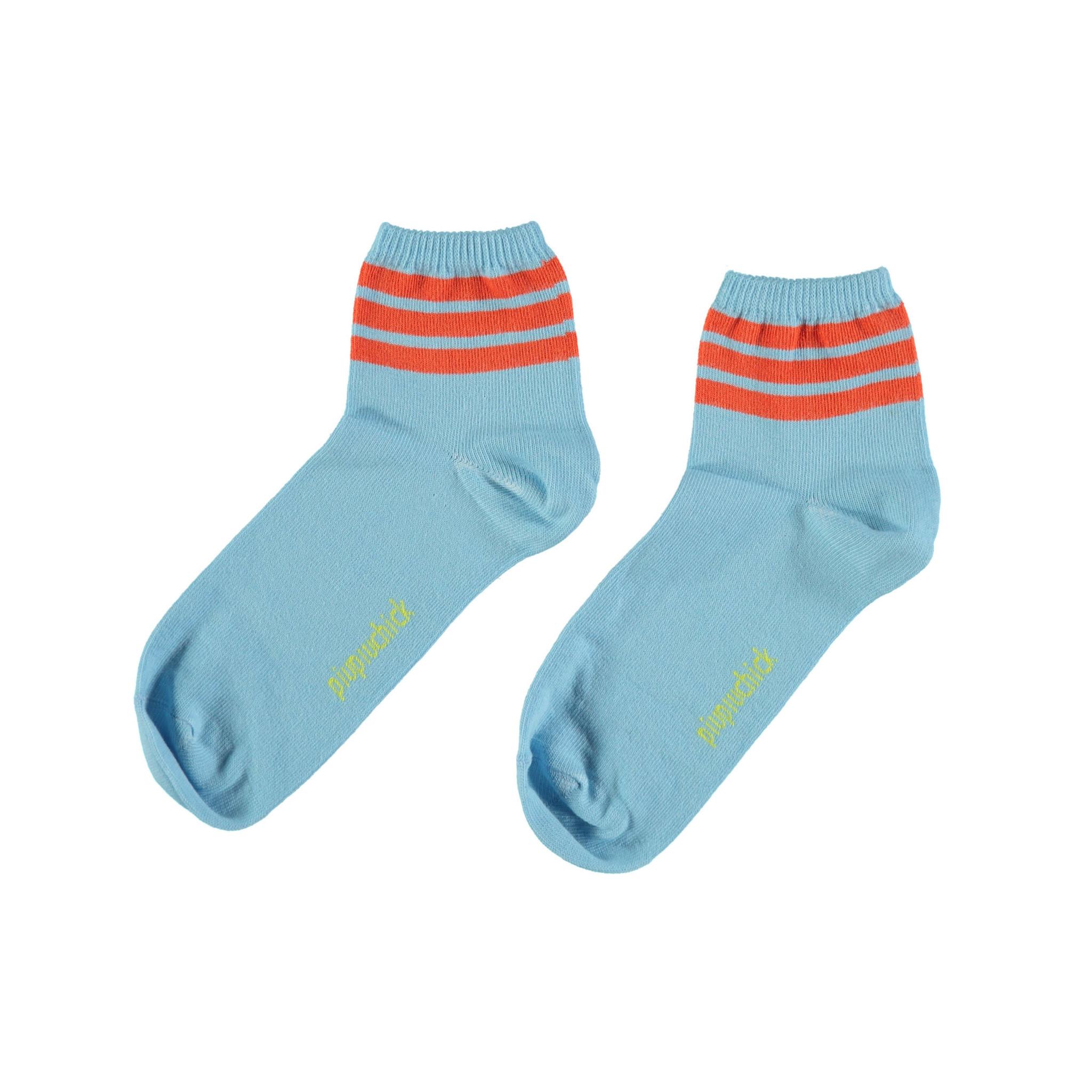piupiuchick socks | blue w/ garnet stripes