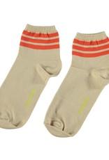 piupiuchick socks | sand w/ garnet stripes