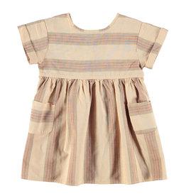 piupiuchick short dress | almond & multicolor stripes