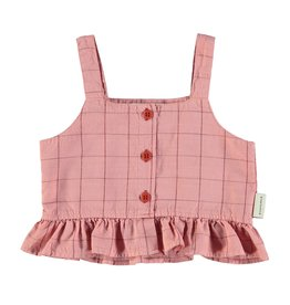piupiuchick top | pink & garnet checkered