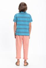 piupiuchick hawaiian shirt | deep blue & multicolor stripes
