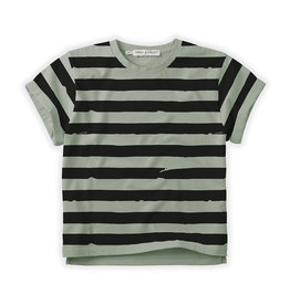 Sproet & Sprout T-shirt Painted stripe | Euacalyptus