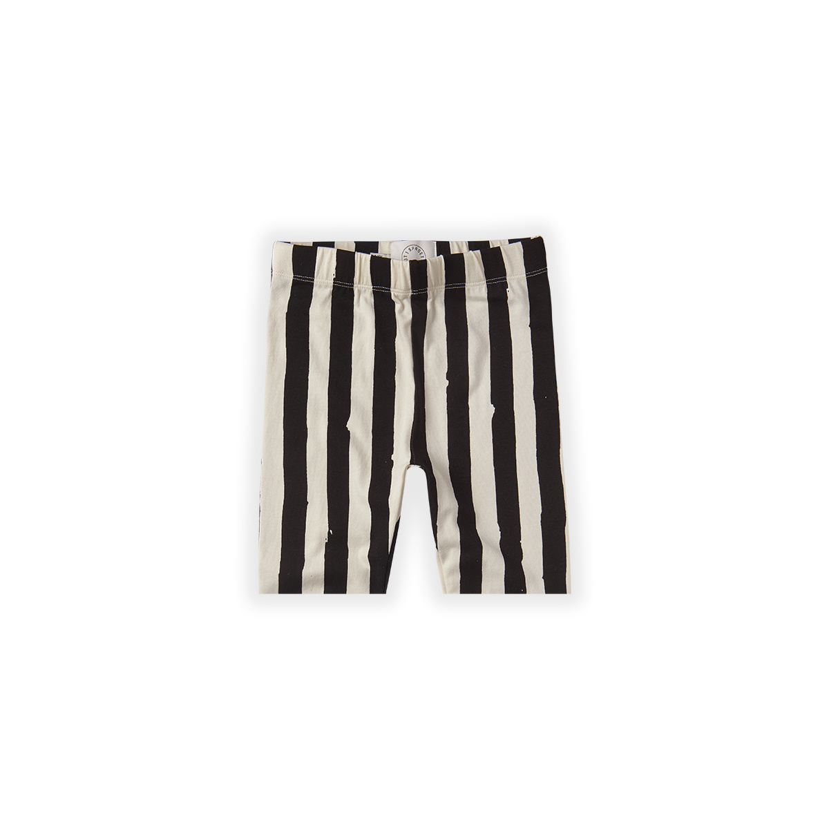 Sproet & Sprout Legging short Painted stripe | Off white