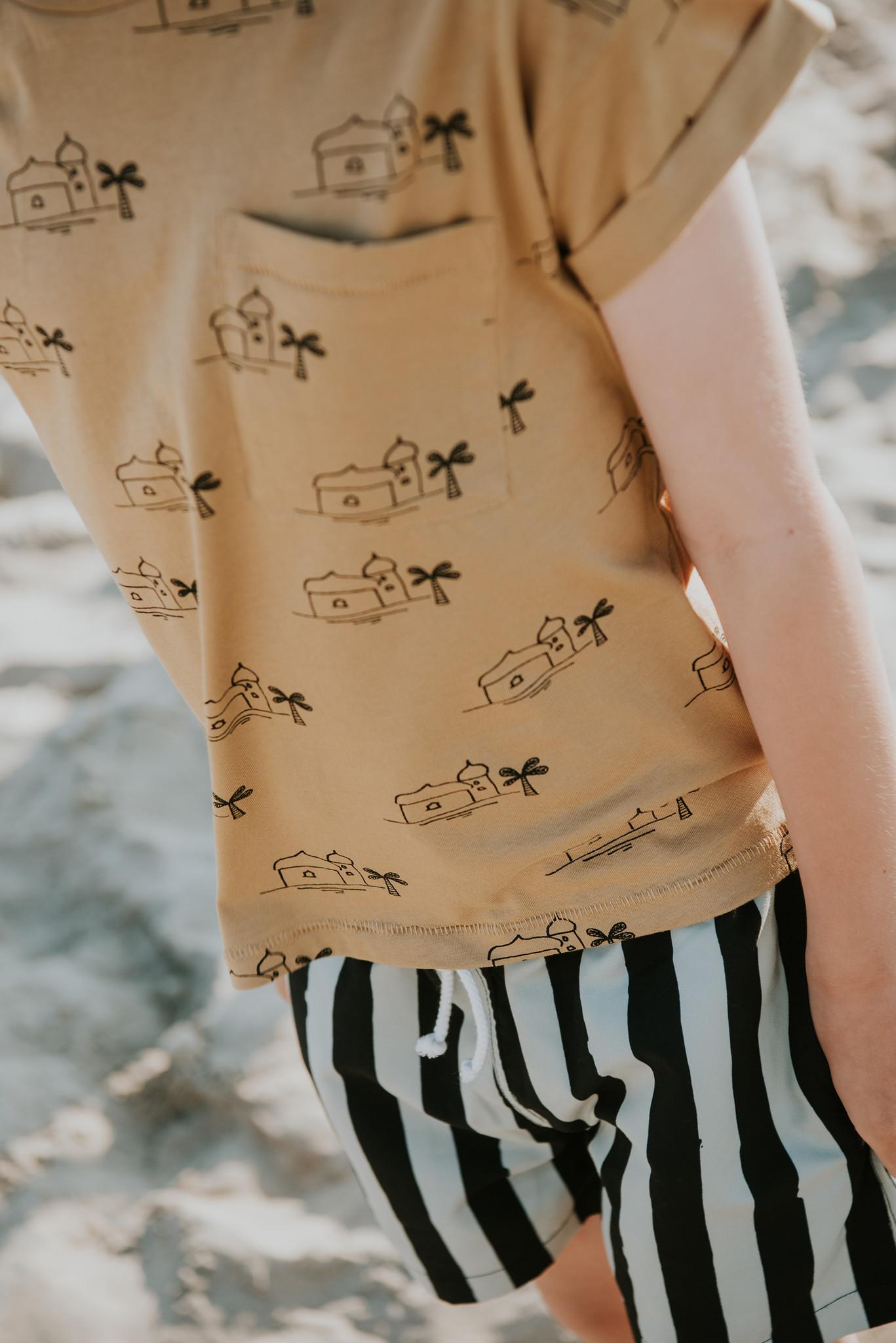 Sproet & Sprout Swimshort Painted stripe | Eucalyptus