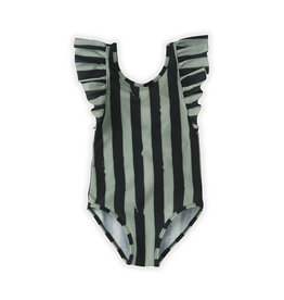 Sproet & Sprout Bathing Suit Painted stripe | Eucalyptus