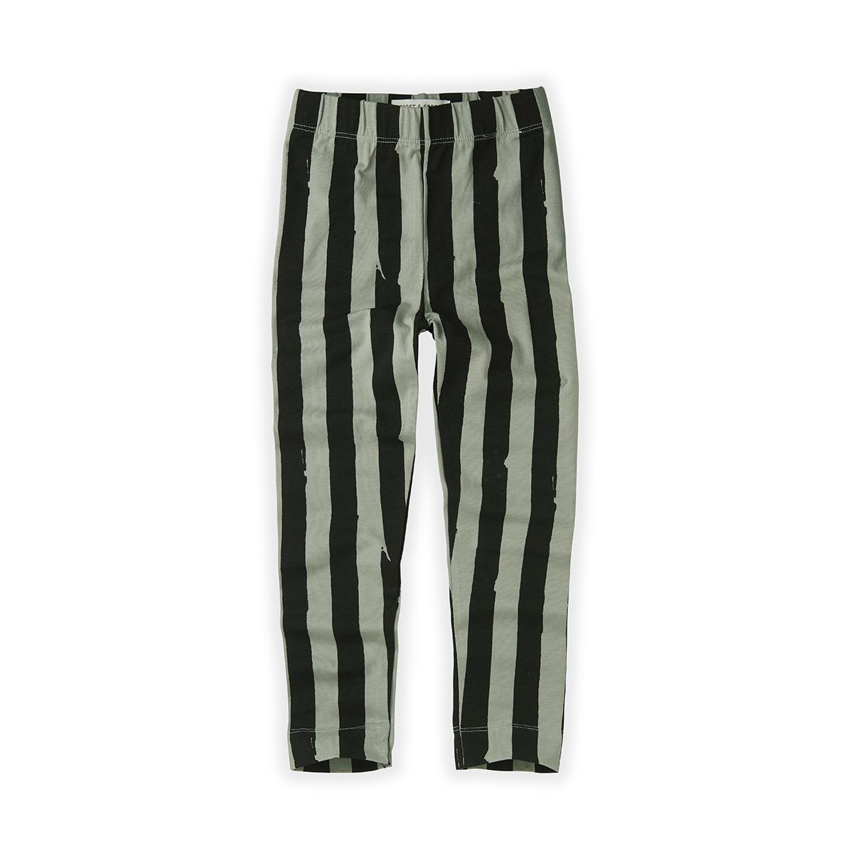 Sproet & Sprout Legging Painted stripe | Eucalyptus