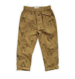 Sproet & Sprout Woven pants Camel Print | Desert