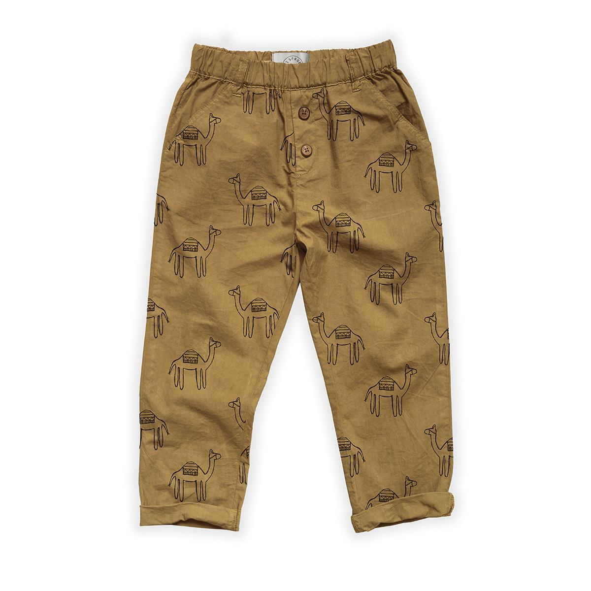 Sproet & Sprout Woven pants Camel Print | Desert