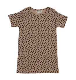 Blossom kids Short sleeve shirt - Animal Dot - warm sand