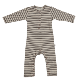 Blossom kids Playsuit Cinnamon Stripes - soft rib