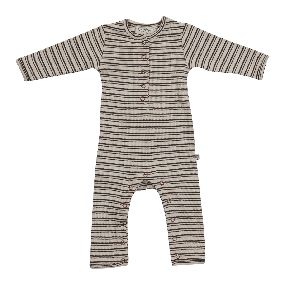 Blossom kids Playsuit Cinnamon Stripes - soft rib