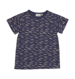 Blossom kids T-shirt Zig Zag - Royal Blue
