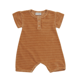 Blossom kids Velvet Playsuit - Honey