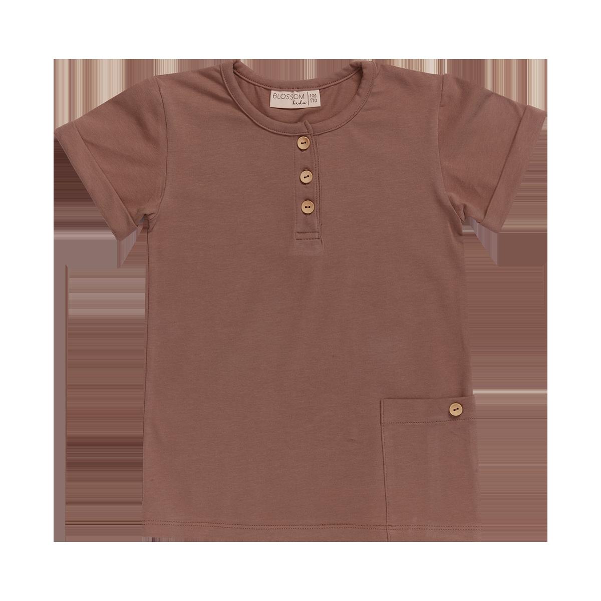 Blossom kids Shirt short sleeve - Cacao