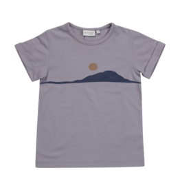 Blossom kids T-shirt Sunset - lilac grey