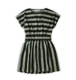 Sproet & Sprout Skater dress painted stripe | Eucalyptus