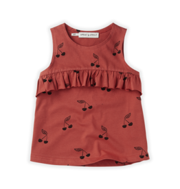 Sproet & Sprout Top ruffle print Cherry red