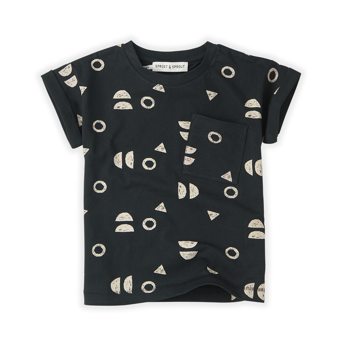 Sproet & Sprout T-shirt print Abstract | Asphalt