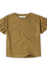 Sproet & Sprout T-shirt rib ruffle Camel   Dessert