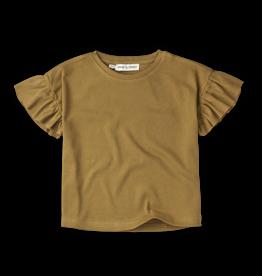 Sproet & Sprout T-shirt rib ruffle Camel | Dessert
