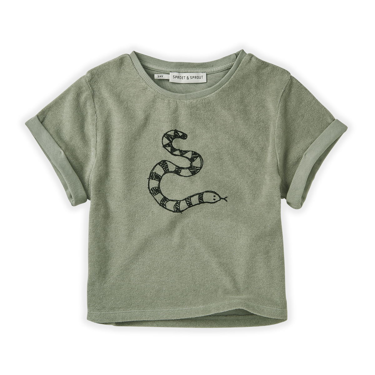 Sproet & Sprout Eucalyptus Sweat T-shirt Terry Snake