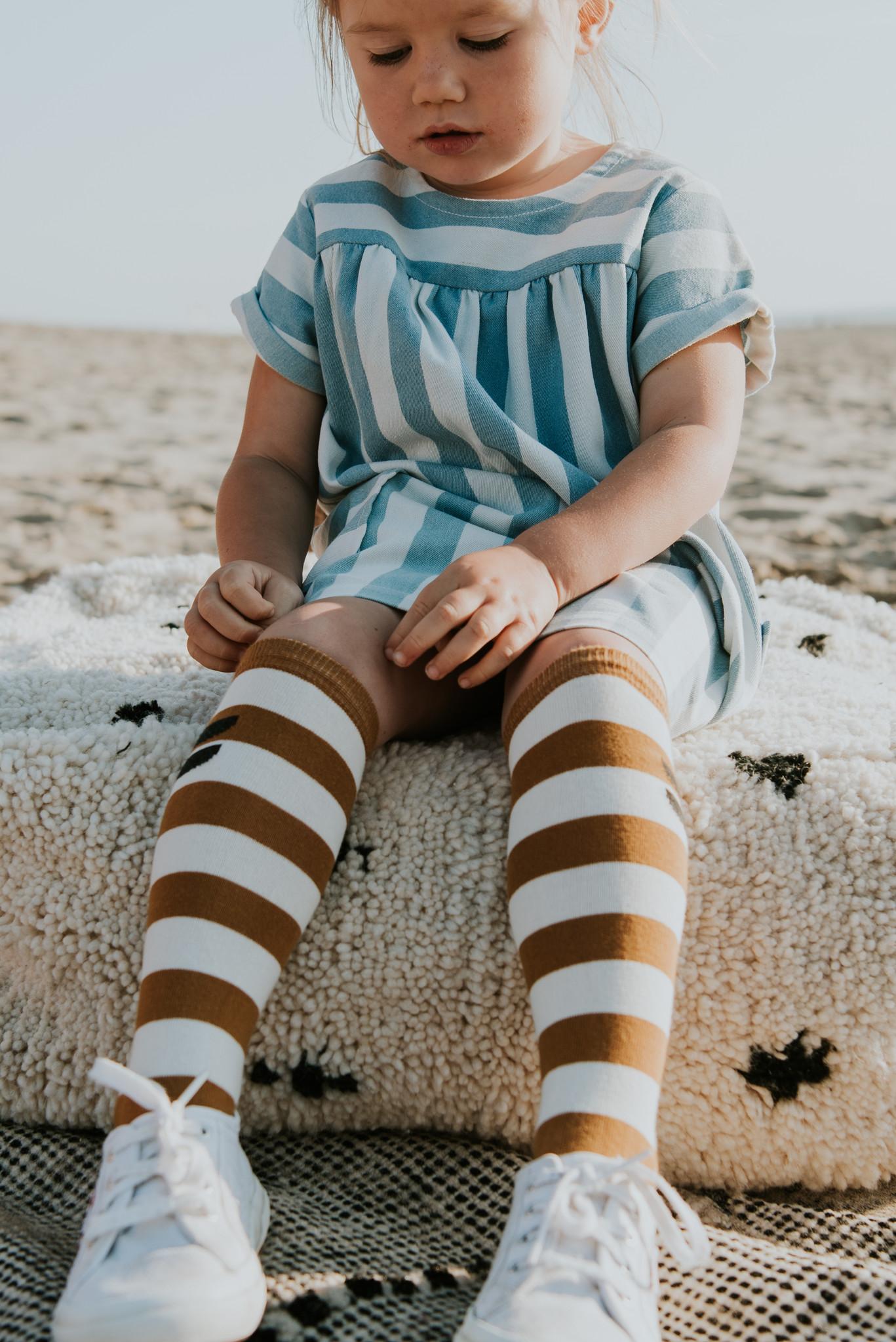 Sproet & Sprout Dress denim stripe