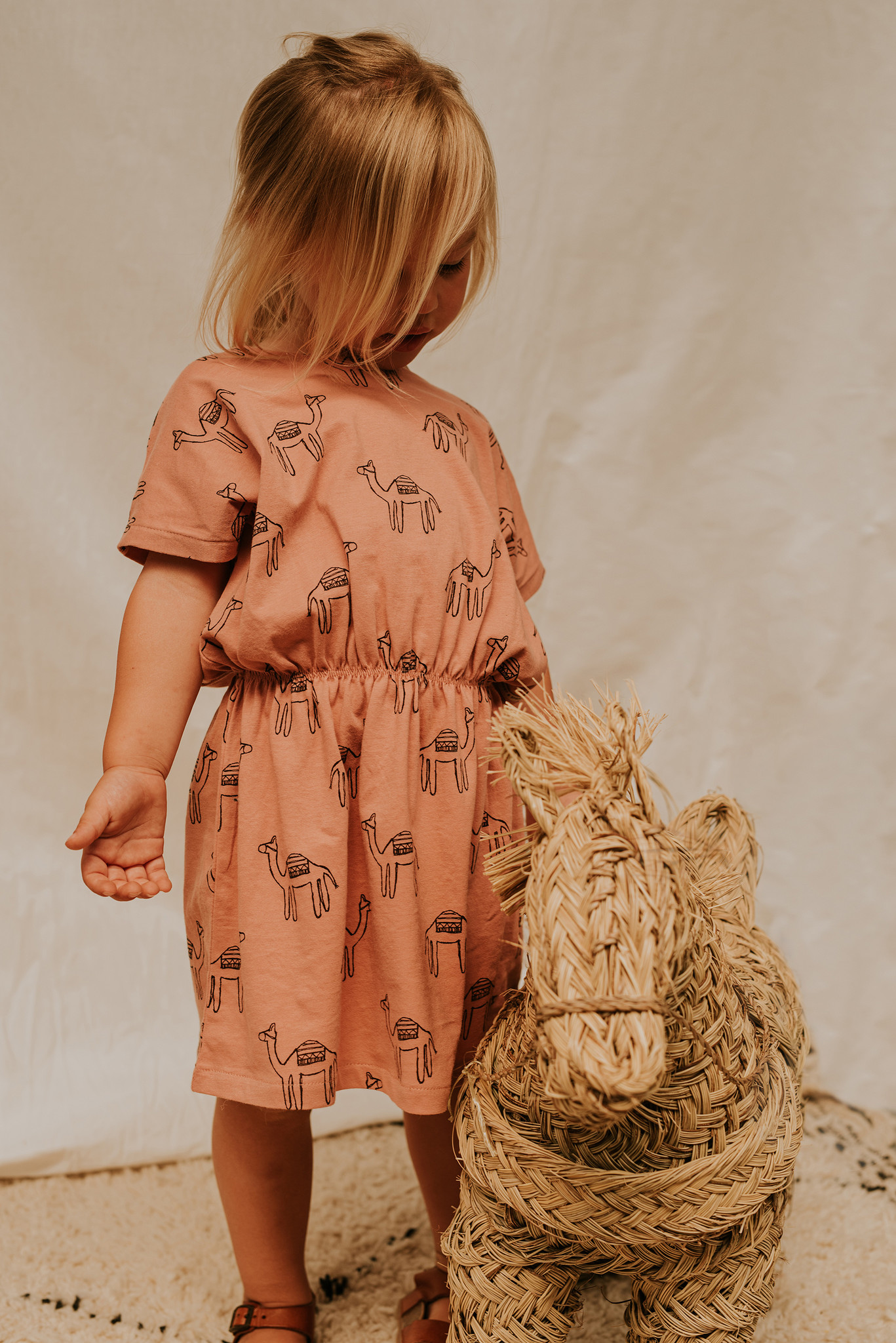 Sproet & Sprout Skater dress print Camel | Rose