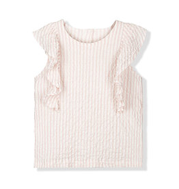 Kids on the moon ROSE PIER RUFFLE TOP