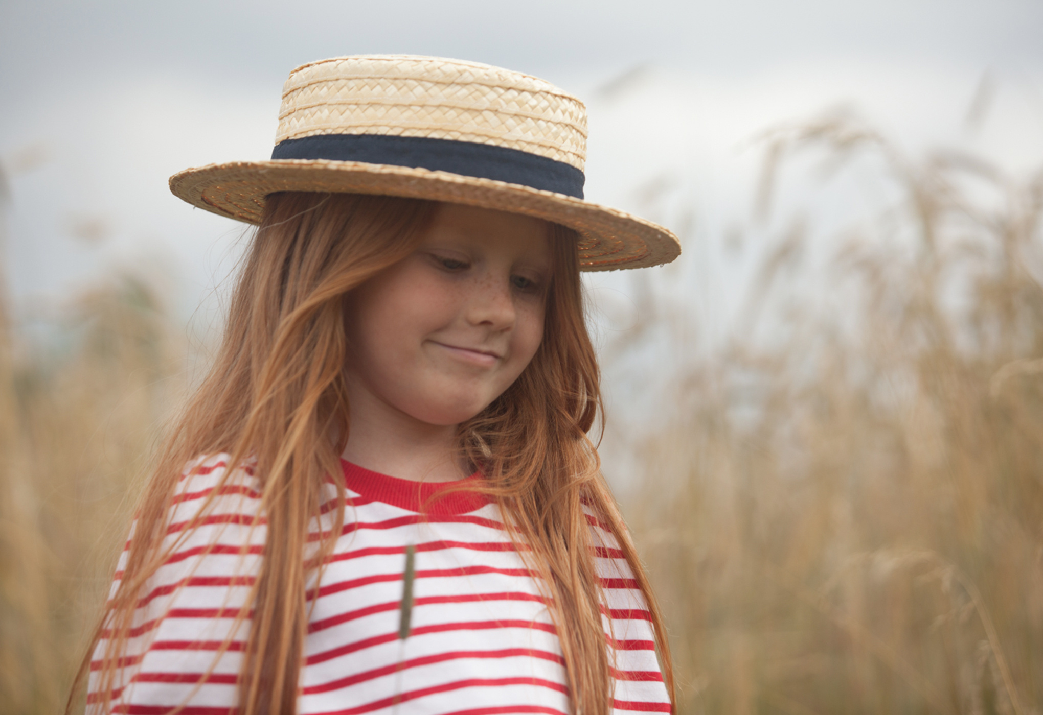 Kids on the moon RED STRIPES PUFF TOP