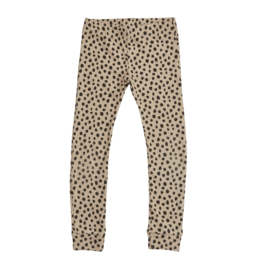 Blossom kids Legging, rib - Animal Dot - Warm Sand