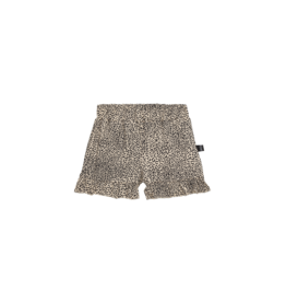 House of Jamie Ruffled Shorts | Charcoal little leopard