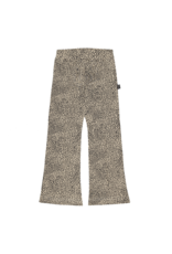 House of Jamie Flared pants | Charcoal little leopard