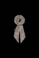 House of Jamie Ribbon Scrunchie | Charcoal little leopard