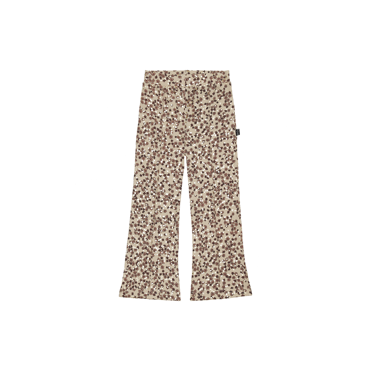 House of Jamie Flared Pants   Golden rose dawn blossom