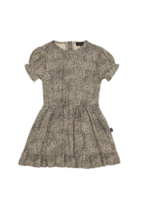 House of Jamie Frill Dress | Charcoal little leopard